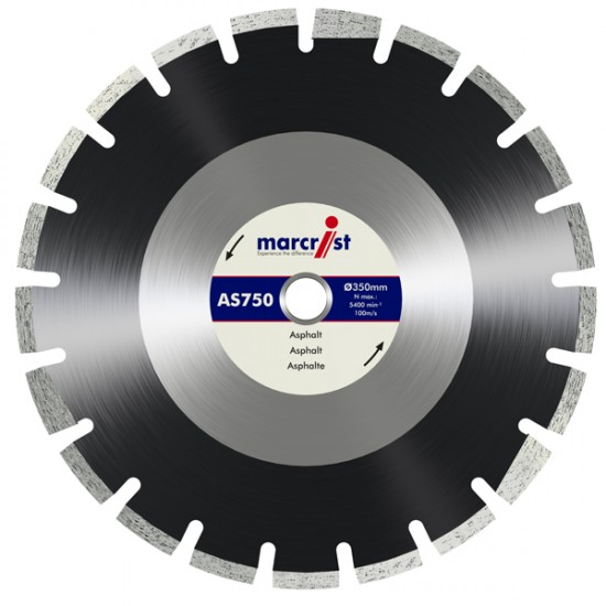 Marcrist AS750 350mm Diamond Blade - 20mm Bore
