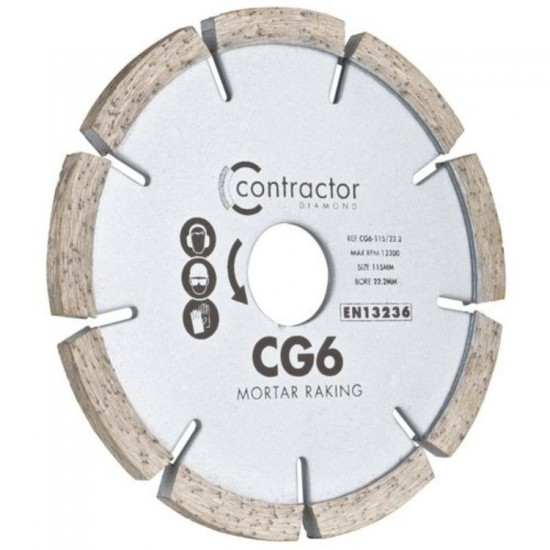 Spectrum CG6 115mm Diamond Blade - 22.2mm Bore