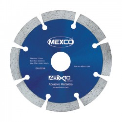 Mexco ABX10 125mm Diamond Blade - 22.23mm Bore