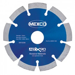Mexco ABX90 115mm Diamond Blade - 22.23mm Bore
