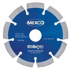 Mexco ABX90 115mm Diamond Blade - 22.23mm Bore