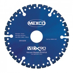 Mexco VBX90 115mm Diamond Blade - 22.23mm Bore