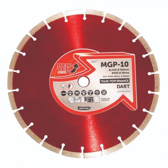 Dart Red Ten MGP-10 300mm Diamond Blade - 20mm Bore