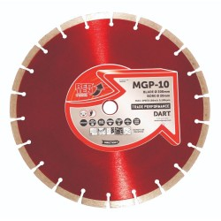 Dart Red Ten MGP-10 350mm Diamond Blade - 25.4mm Bore