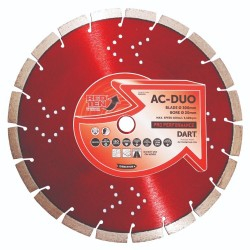 Dart Red Ten AC-DUO 400mm Diamond Blade - 25.4mm Bore