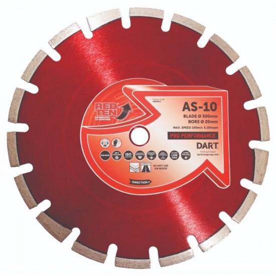 Dart Red Ten AS-10 450mm Diamond Blade - 25.4mm Bore