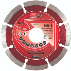 Dart Red Ten MR-6 115mm Diamond Blade - 22mm Bore